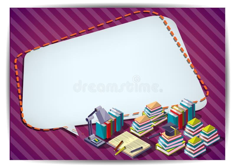 Modello creativo di progettazione della carta di vettore dell'opuscolo dell'aletta di filatoio del modello di istruzione illustrazione di stock