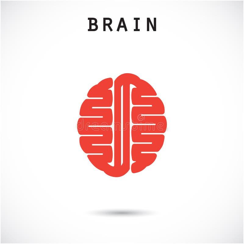Modello creativo di progettazione di logo di vettore dell'estratto del cervello illustrazione di stock