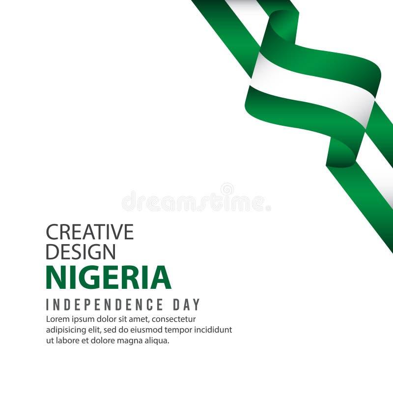 Modello creativo di vettore dell'illustrazione di progettazione di celebrazione di festa dell'indipendenza della Nigeria illustrazione vettoriale
