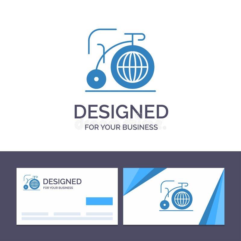 Modello creativo grande, bici, sogno, illustrazione di logo e del biglietto da visita di vettore di ispirazione illustrazione vettoriale