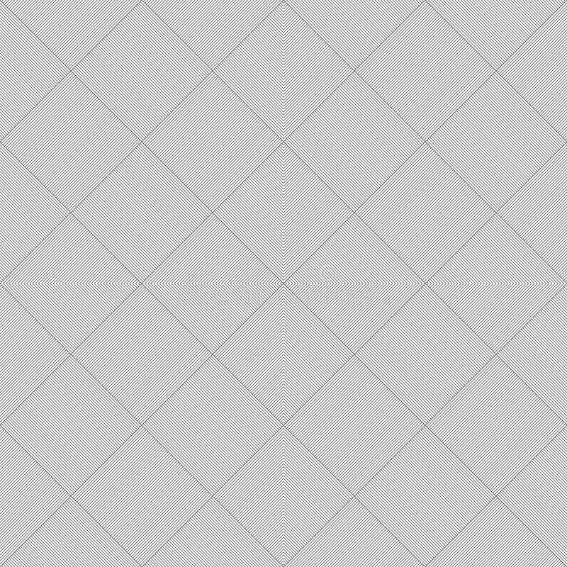 Modello curvo senza cuciture in bianco e nero royalty illustrazione gratis