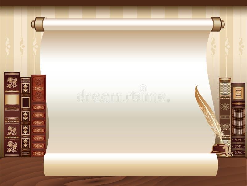 Modello d'annata del libro royalty illustrazione gratis