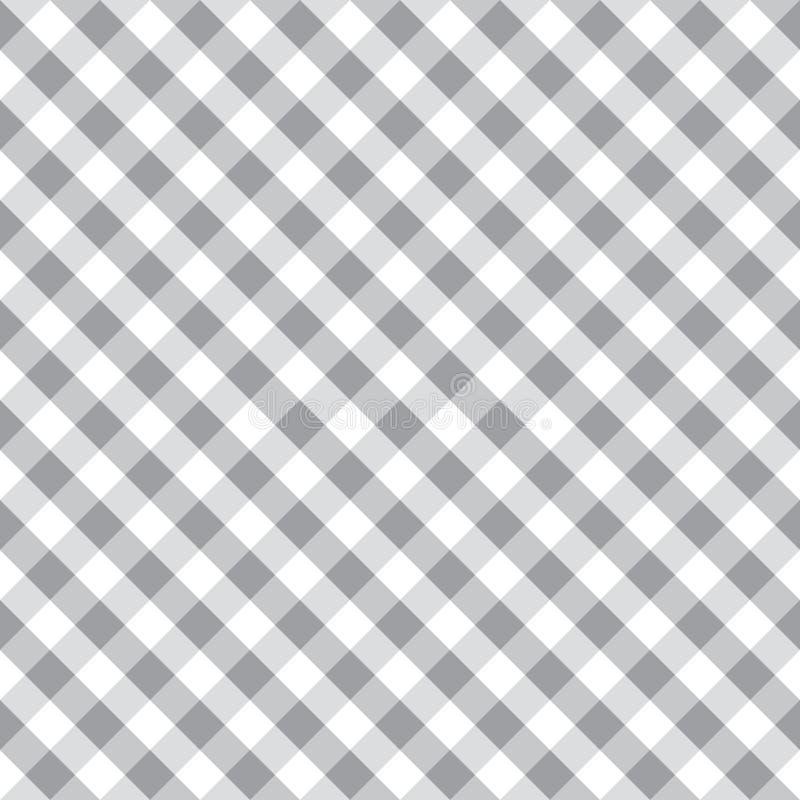 Modello d'annata del tessuto del tessuto del percalle grigio senza cuciture Fondo del controllo del percalle illustrazione vettoriale