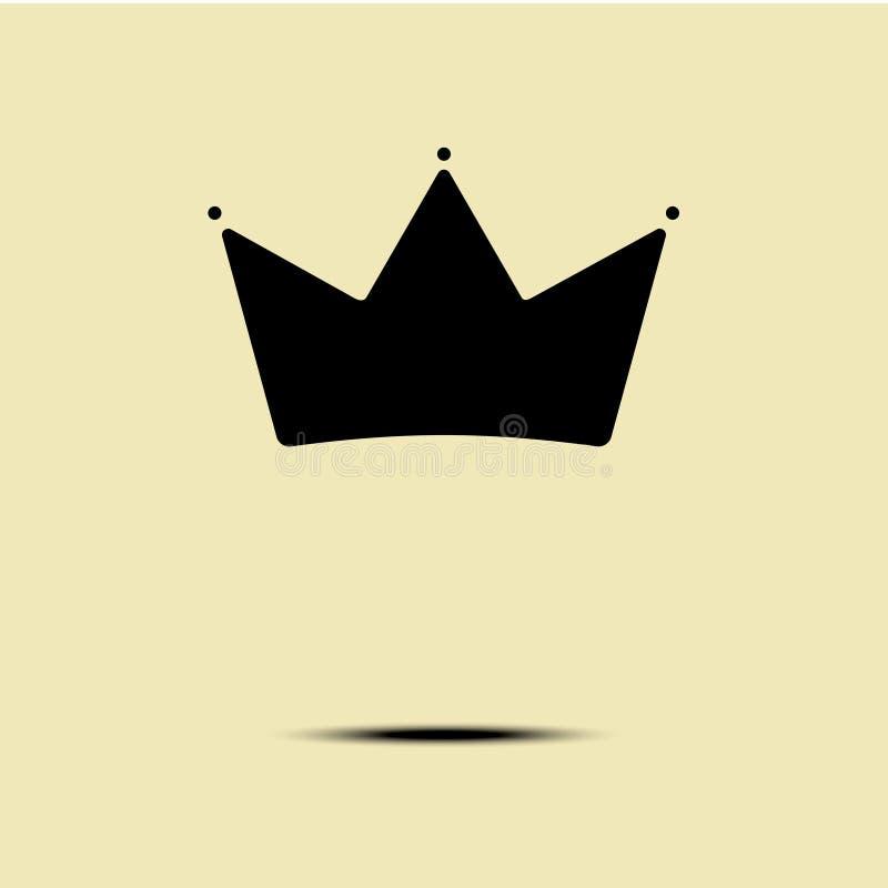 Modello d'annata geometrico di vettore di progettazione di minimalismo di logo della corona illustrazione vettoriale