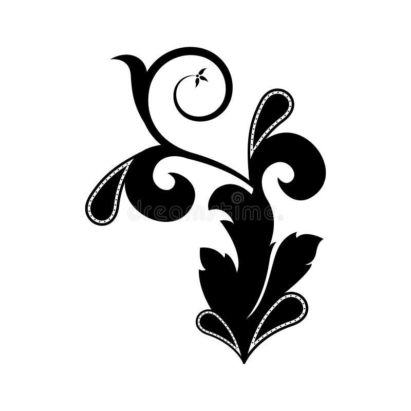 Modello d'annata isolato di arabesque illustrazione vettoriale