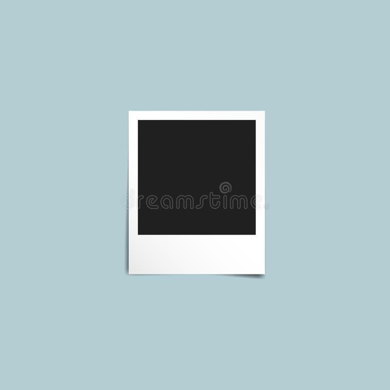 Modello d'annata unico della polaroid della struttura della foto illustrazione di stock