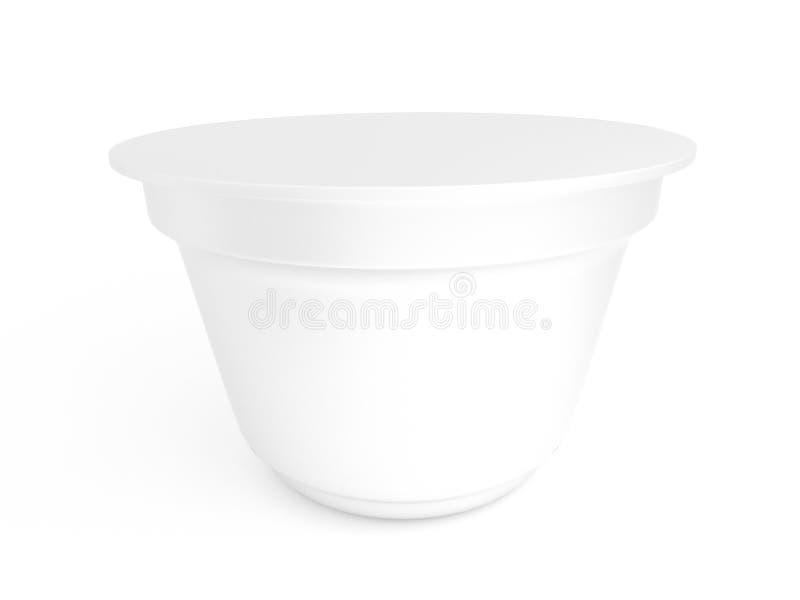 Modello d'imballaggio del yogurt fotografia stock libera da diritti