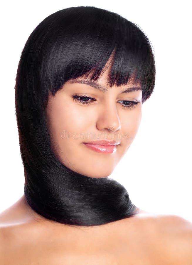 Modello dai capelli scuro della biancheria fotografia stock libera da diritti