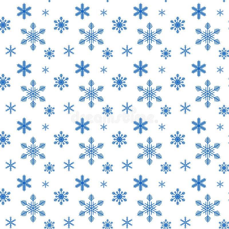 Modello dal fiocco di neve senza cucitura illustrazione vettoriale