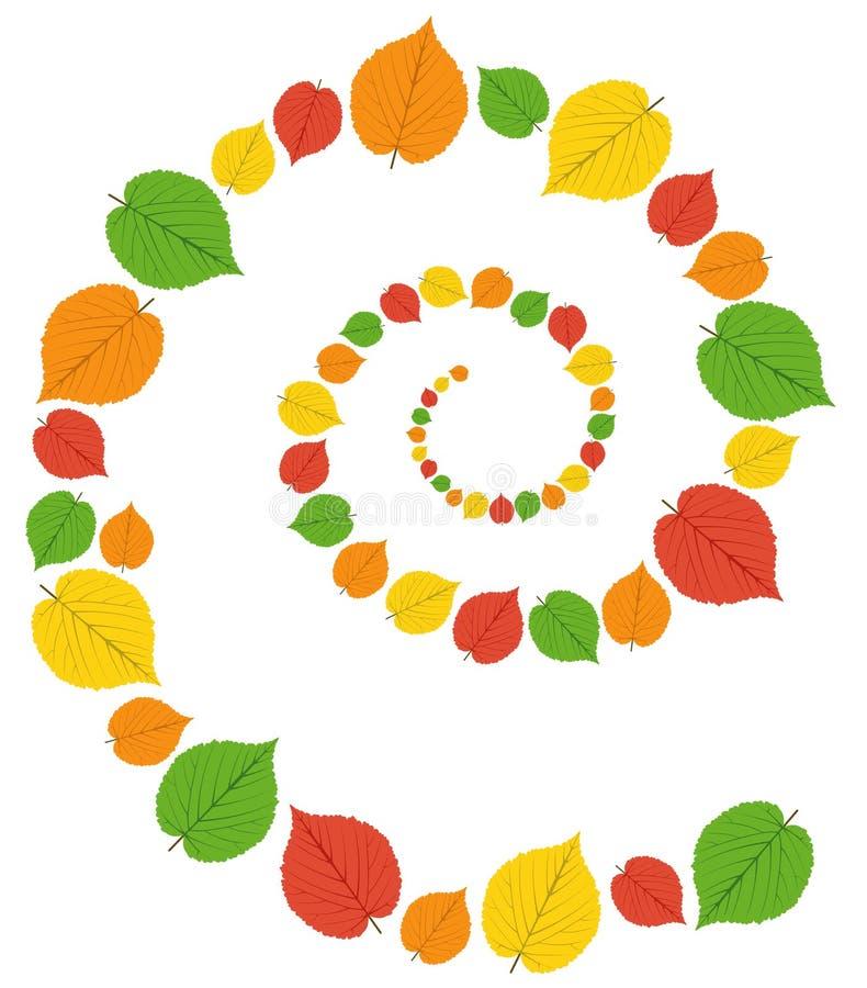 Modello dalle foglie di autunno illustrazione di stock