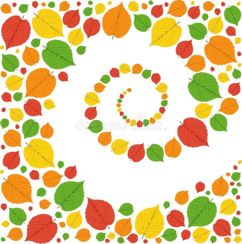 Modello dalle foglie di autunno royalty illustrazione gratis