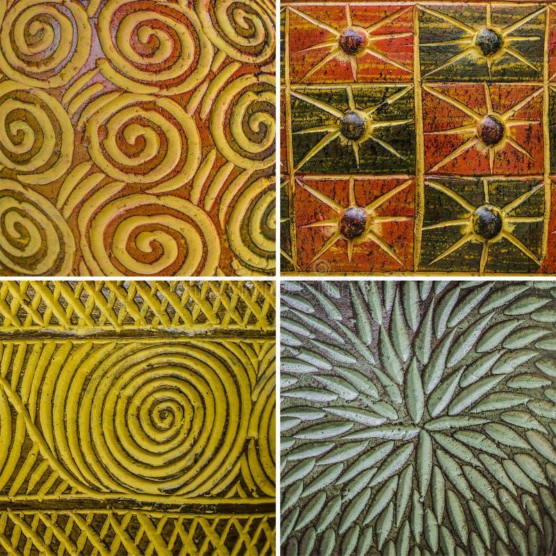 Modello dalle terraglie piene di colore tailandese fotografie stock