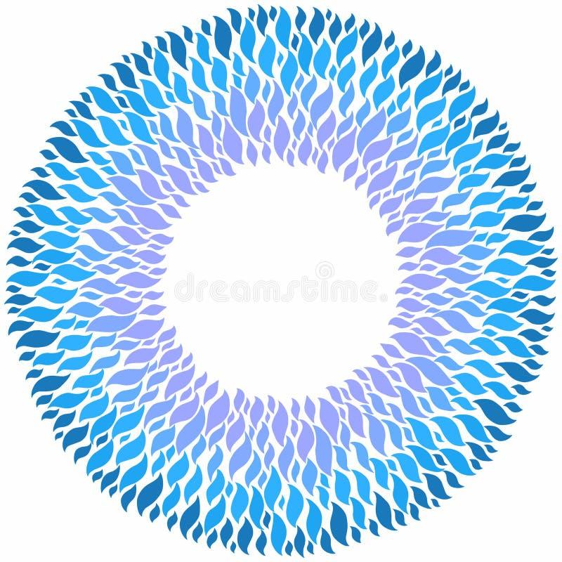 Modello decorativo blu su fondo bianco illustrazione di stock