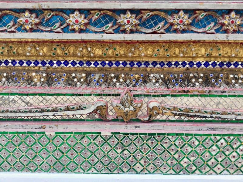 Modello decorativo del tempio ceramico, Bangkok, Tailandia fotografie stock