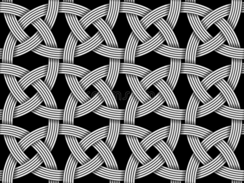 Modello decorativo senza cuciture di fibra intersecata Illustr di vettore illustrazione di stock