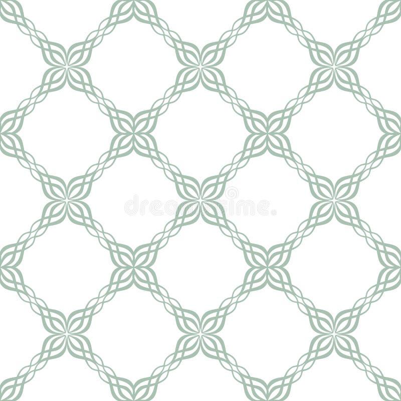 Modello decorato senza cuciture delle mattonelle royalty illustrazione gratis