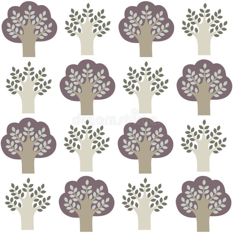 Modello degli alberi illustrazione vettoriale