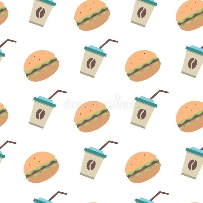 Modello degli alimenti a rapida preparazione di vettore royalty illustrazione gratis