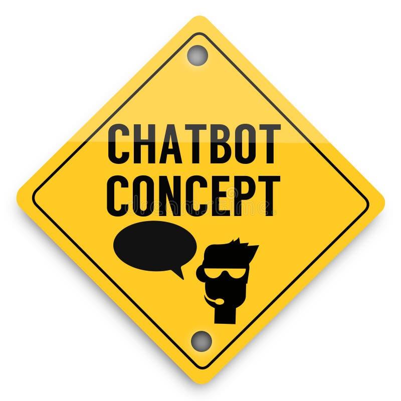 Modello degli elementi del fondo di Chatbot avanti, manifesto astratto di affari di qualità eccellente illustrazione di stock