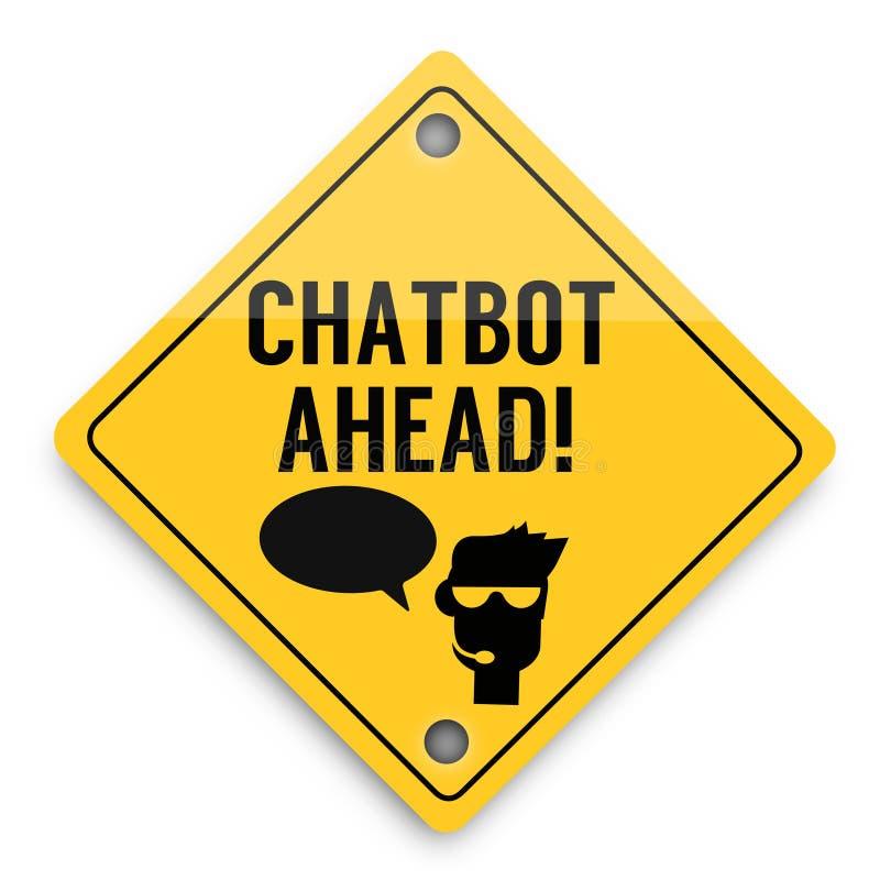 Modello degli elementi del fondo di Chatbot avanti, manifesto astratto di affari di qualità eccellente royalty illustrazione gratis
