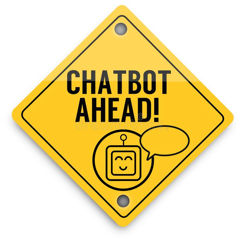 Modello degli elementi del fondo di Chatbot avanti, manifesto astratto di affari di qualit? eccellente royalty illustrazione gratis
