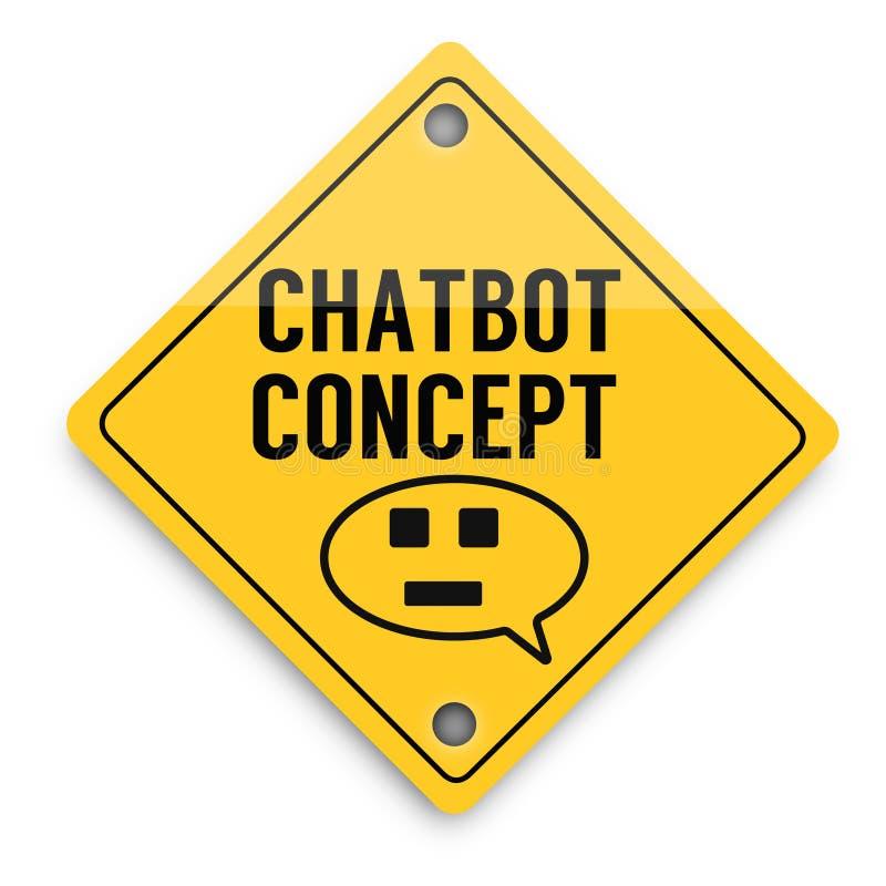 Modello degli elementi del fondo di Chatbot avanti, manifesto astratto di affari di qualit? eccellente illustrazione di stock