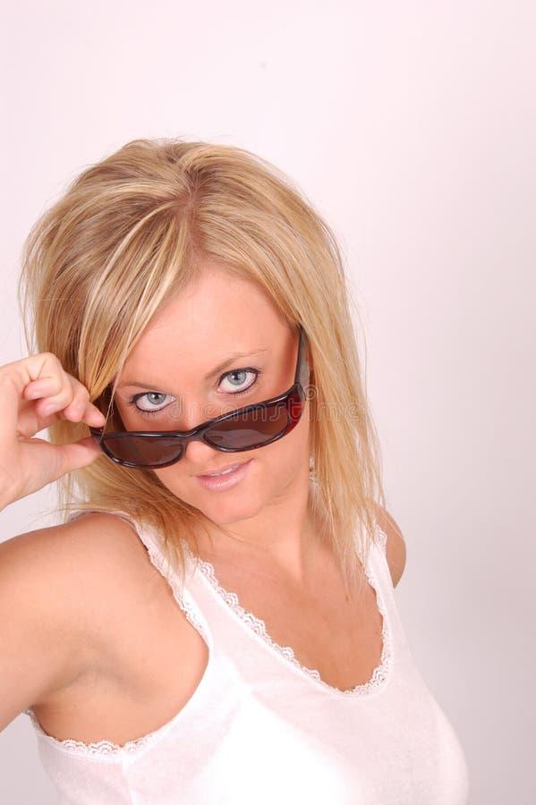 Modello degli occhiali da sole fotografie stock