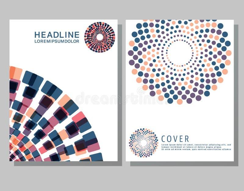 Modello degli opuscoli della copertura royalty illustrazione gratis