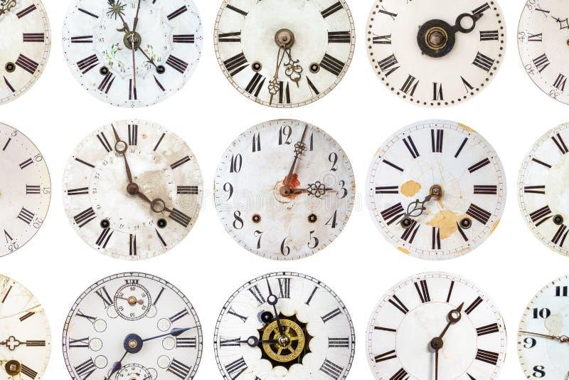Modello degli orologi stagionati antichi fotografia stock