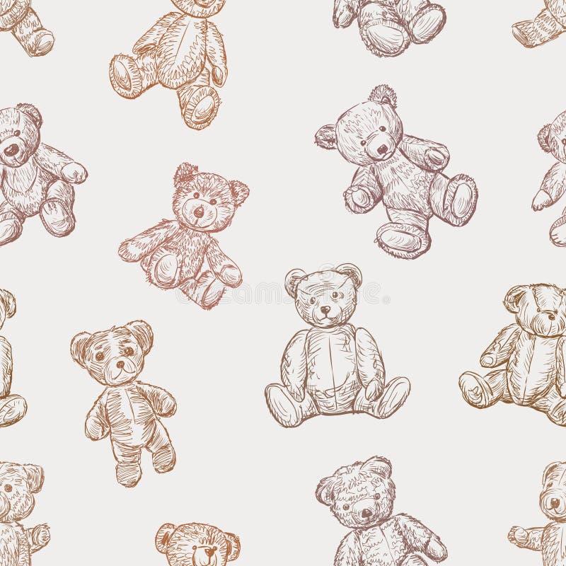 Modello degli orsacchiotti royalty illustrazione gratis