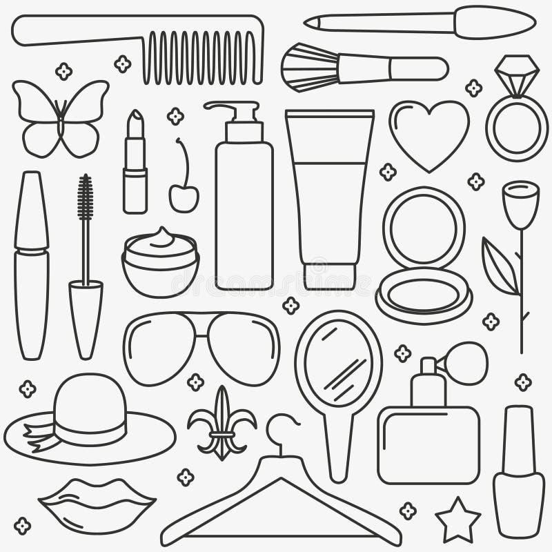 Modello dei cosmetici della donna illustrazione di stock