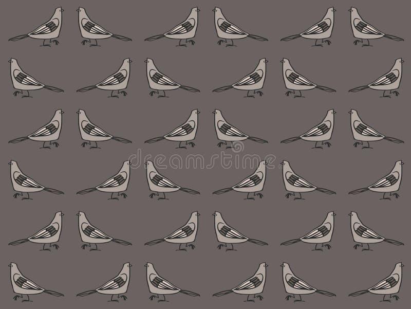 Modello dei piccioni royalty illustrazione gratis