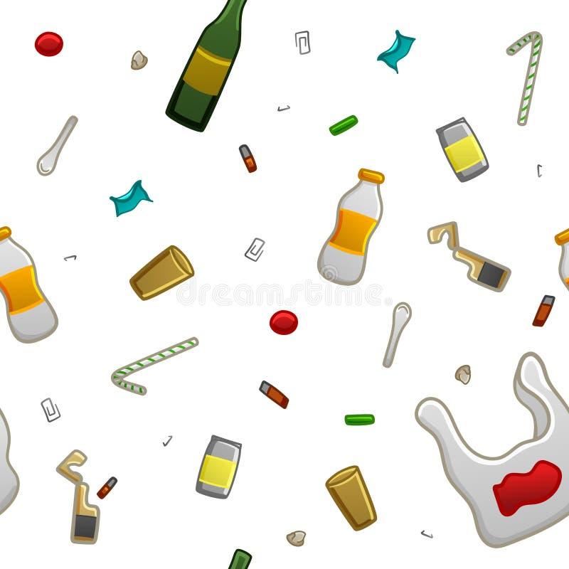 Modello dei rifiuti illustrazione di stock