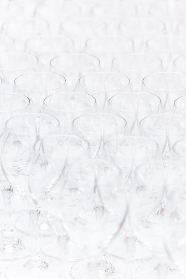 Modello dei vetri christal vuoti fotografie stock