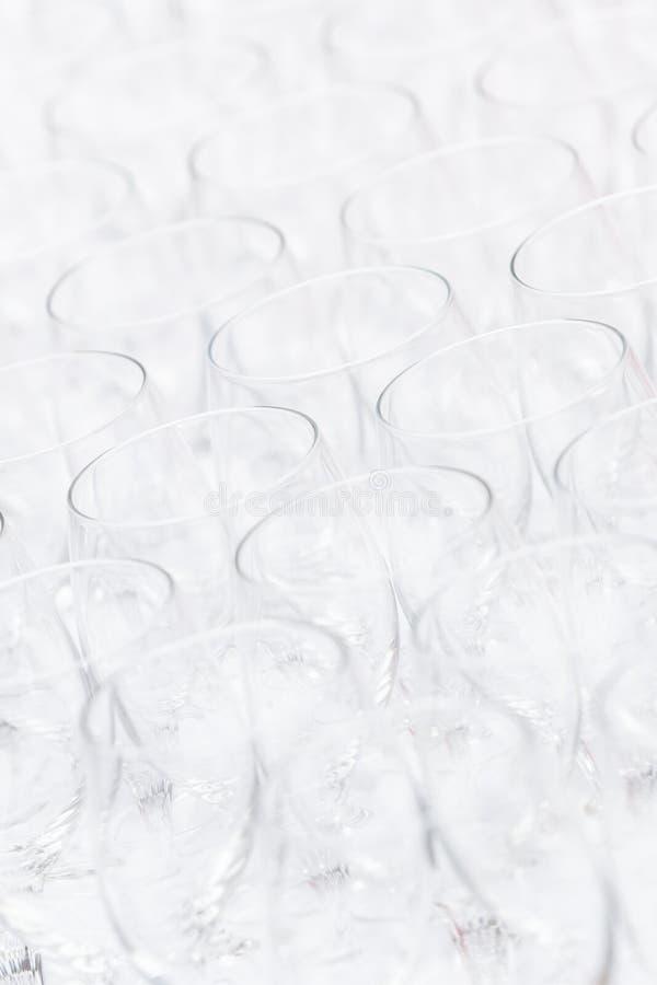Modello dei vetri christal vuoti immagine stock libera da diritti