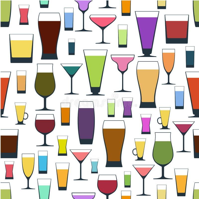 Modello dei vetri differenti royalty illustrazione gratis