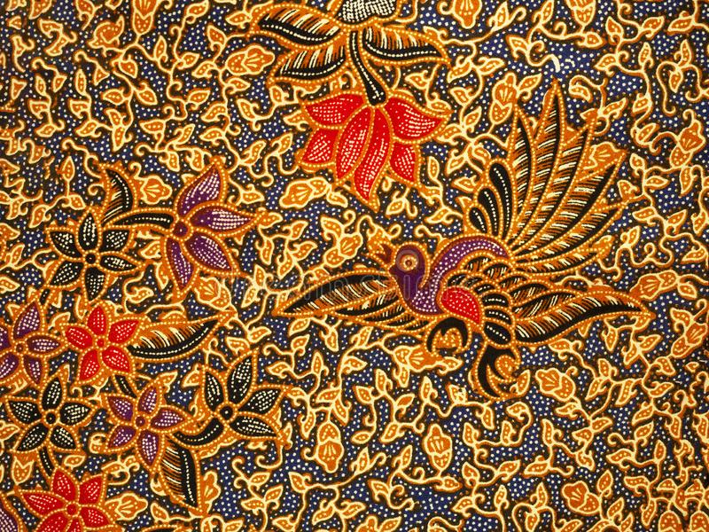 Modello del batik, assolo, Indonesia fotografia stock
