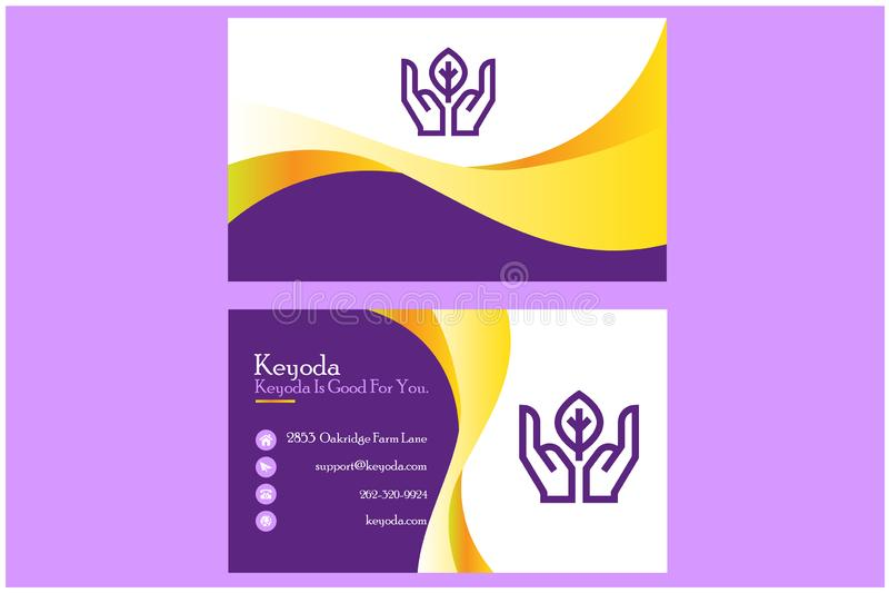 Modello del biglietto da visita di Keyoda per l'affare illustrazione vettoriale