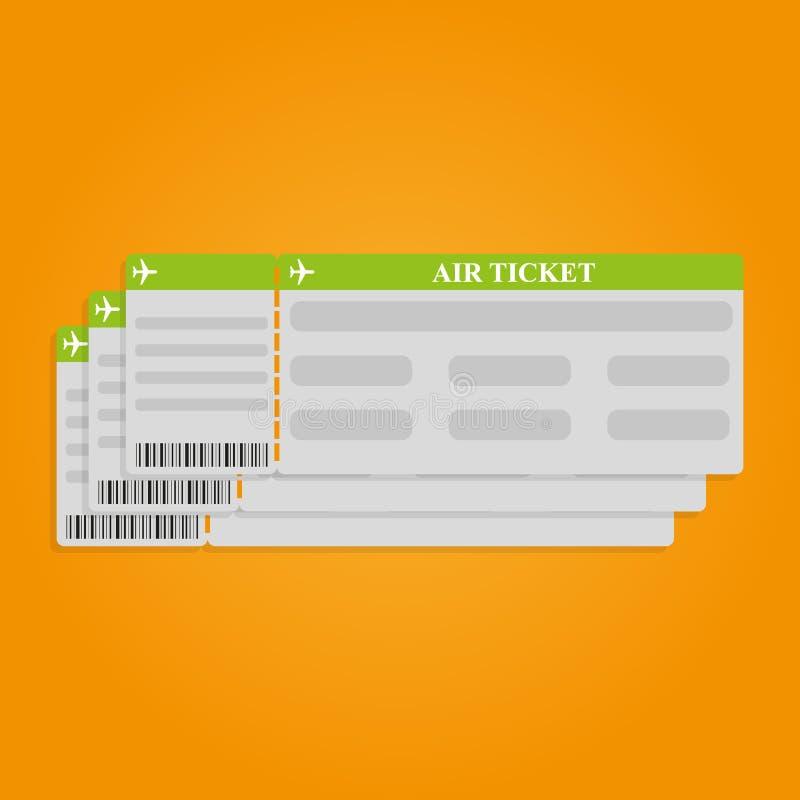 Modello del biglietto del passaggio di imbarco di linea aerea con il codice QR2 Concetto del viaggio, del viaggio o dell'affare I royalty illustrazione gratis