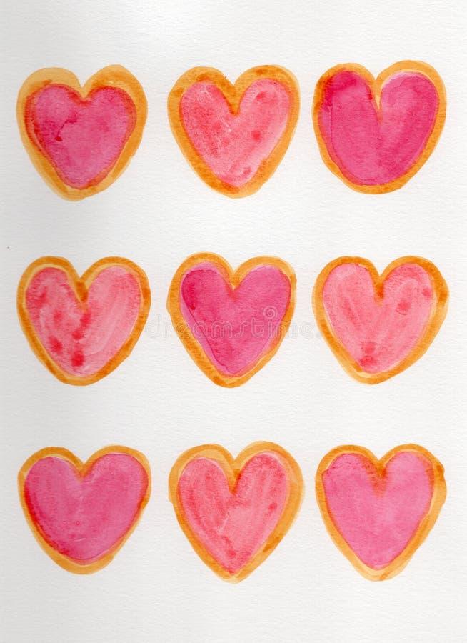 Modello del biscotto royalty illustrazione gratis
