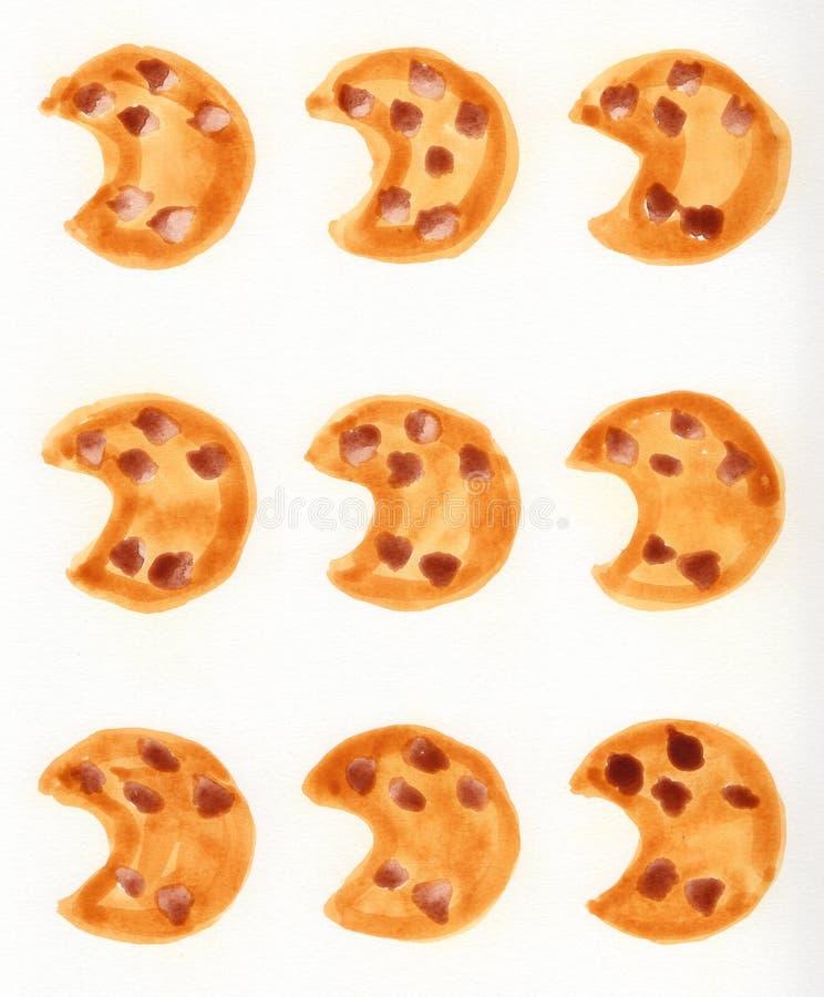 Modello del biscotto illustrazione di stock