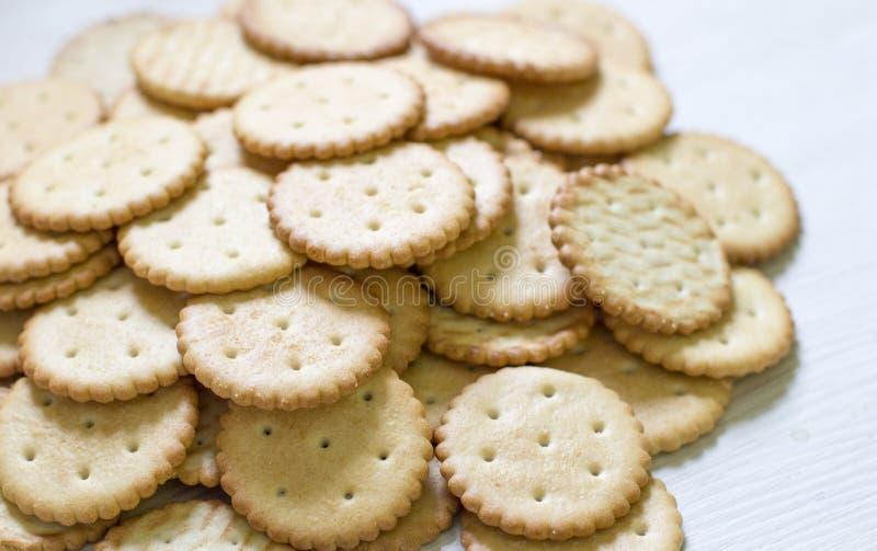 Modello del biscotto fondo culinario, pasticceria fresca fotografie stock libere da diritti