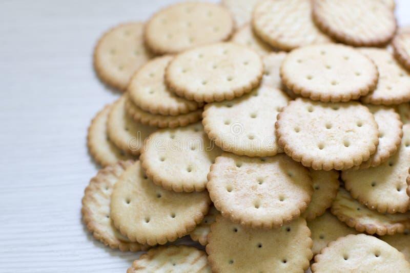 Modello del biscotto fondo culinario, pasticceria fresca immagini stock