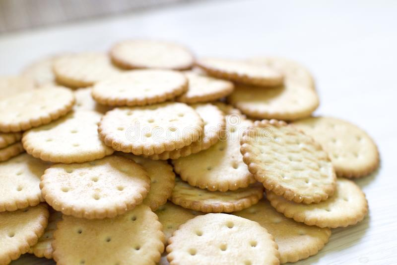 Modello del biscotto fondo culinario, pasticceria fresca fotografia stock libera da diritti