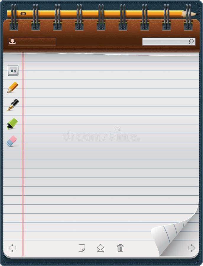 Modello del blocchetto per appunti di vettore (verticale) royalty illustrazione gratis