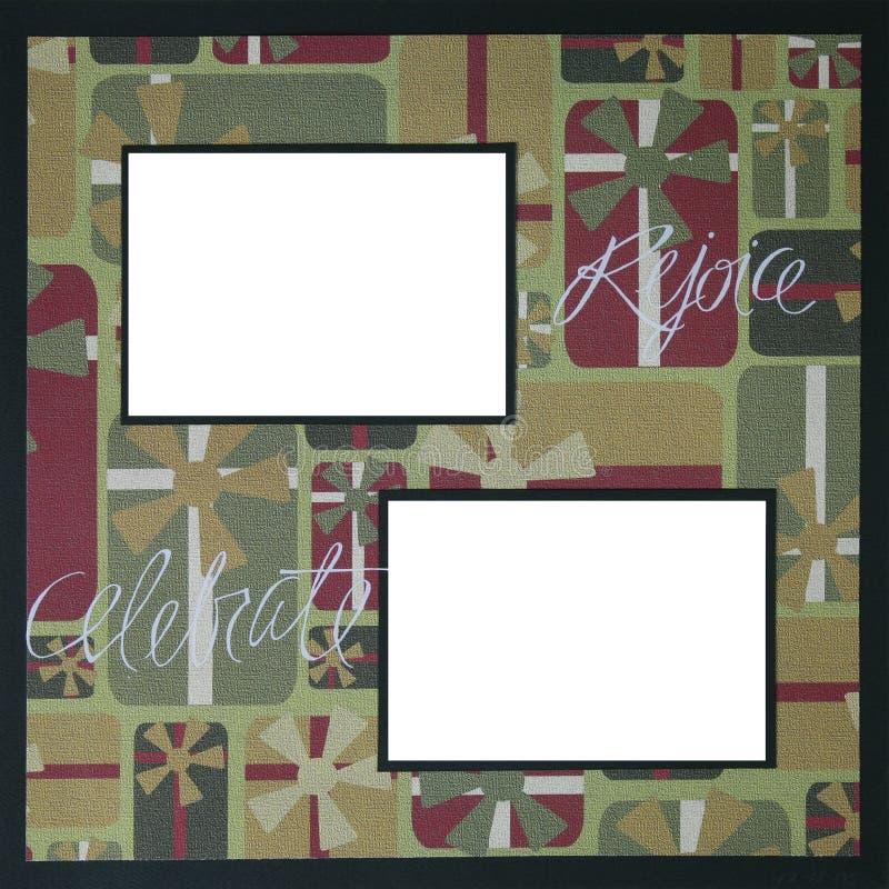 Modello del blocco per grafici dell'album di natale illustrazione vettoriale