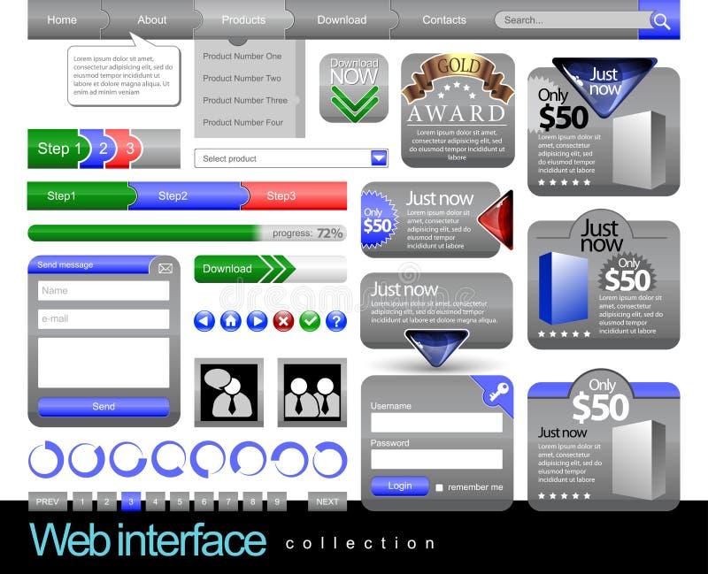 Modello del blocco per grafici dell'elemento di disegno di Web royalty illustrazione gratis