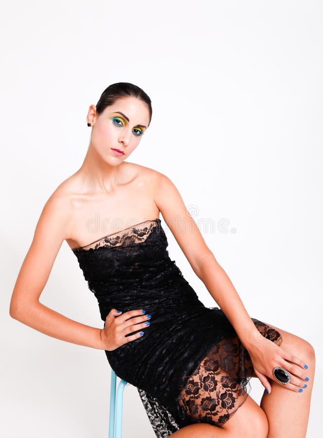 Modello del Brunette. fotografia stock