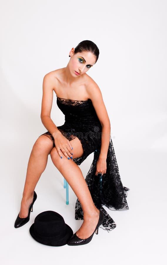 Modello del Brunette. immagine stock