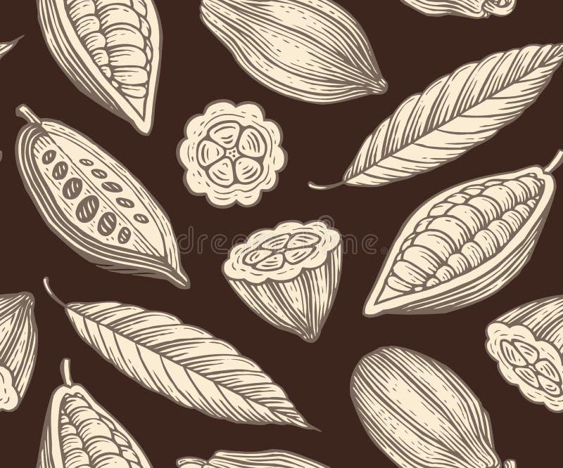 Modello del cacao illustrazione di stock